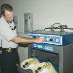 Estação de Contenção de Recarga Blindada de  Ar Respirável 1 Cilindro